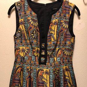 NANETTE LEPORE Silk Hieroglyph Dress 2 $428